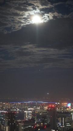 ゲートブリッジと月
