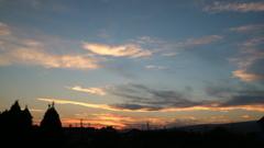 区民農園からの夕焼け