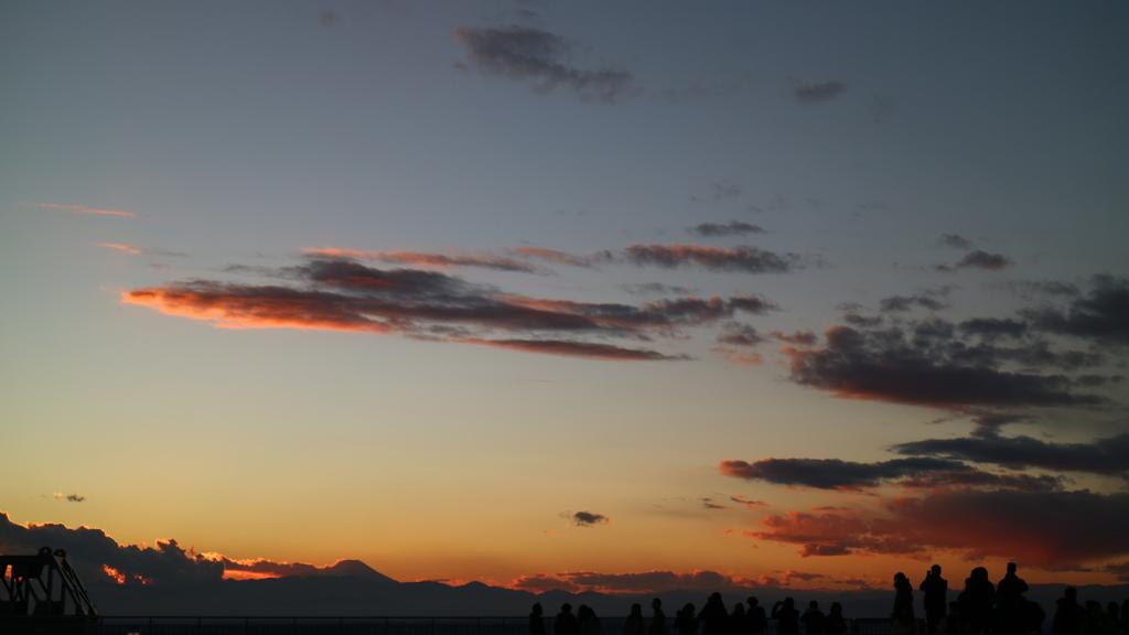 富士山も見えた夕景