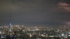 市川市アイ・リンクタウン展望施設から見た雷②