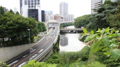 紀尾井テラスから見た 弁慶橋ボート場