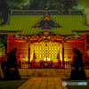 神社の明かり