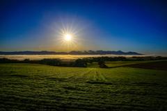 快晴の朝の雲海