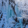 樹氷と青いつらら
