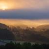 太陽見えた霧の朝