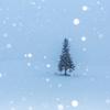 雪降るツリー
