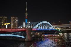 「東京スカイツリー・駒形橋ライトアップ」