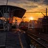 岳南電車の夕景