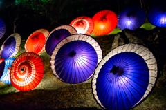 和傘の灯かり