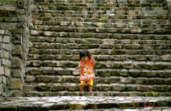 長城の階段