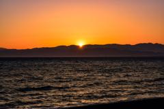 駿河湾の落日