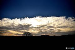 木津川の夕陽