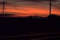 真っ赤な線路