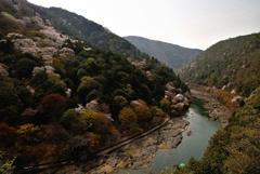 保津川と嵐山と