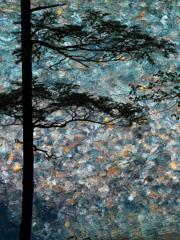 Blue glass river