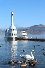 朝の山中湖②