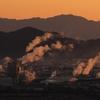 町工場の朝煙