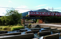 多度川橋梁を渡る養老鉄道