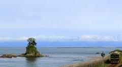 雨晴海岸&立山連峰
