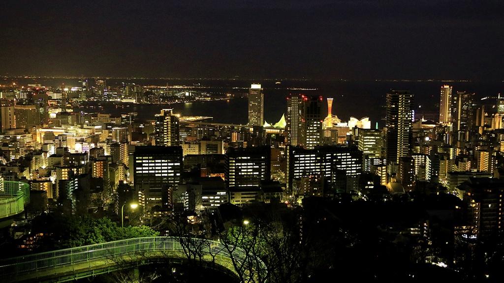 みなと街の夜景