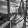 橋の幾何学模様とスカイツリー