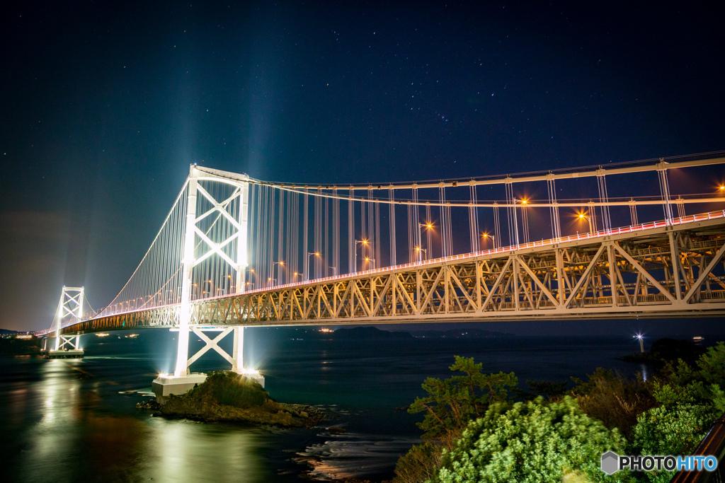 オリオン座と大鳴門橋