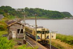 五能線 驫木駅にて