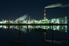 霞工場夜景