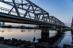 たま川夕景