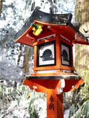 葛木神社の灯篭
