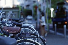 研究!自転車の撮り方・皮サドル