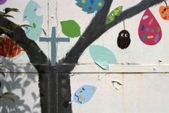 ある小学校の壁