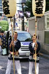 渋谷金王八幡宮例大祭 其の二・提灯持ち