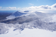 霧氷と樽前山