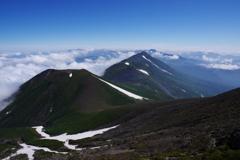 トムラウシへの稜線
