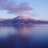 朝日の恵庭岳