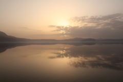朝日 十和田湖