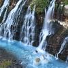夕暮れ 白髭の滝