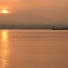青森港の朝日