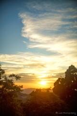高野山からの夕焼け・・・