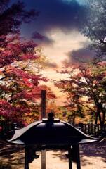 寂光院の秋・・・