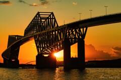東京ゲートブリッジの落日・・
