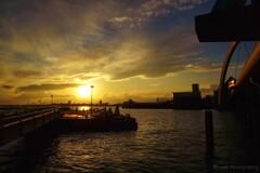 名古屋港夕景・・・・