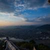 岐阜城の夕暮れ1