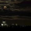 犬山城と月3