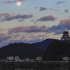 犬山城と月