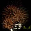 犬山城と花火3