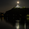 犬山城と満月2