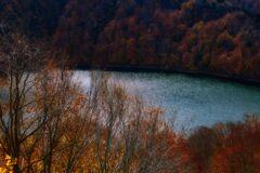 ダム湖のキラキラ