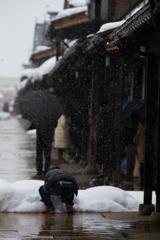 雪ばかりで><
